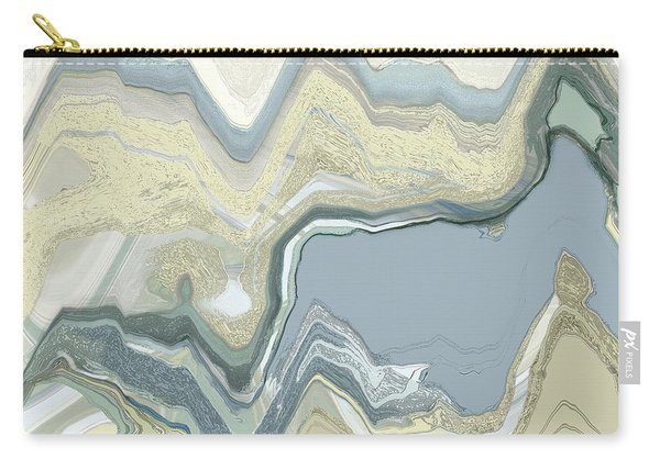 Carry-all Pouch featuring the digital art Agate by Gina Harrison