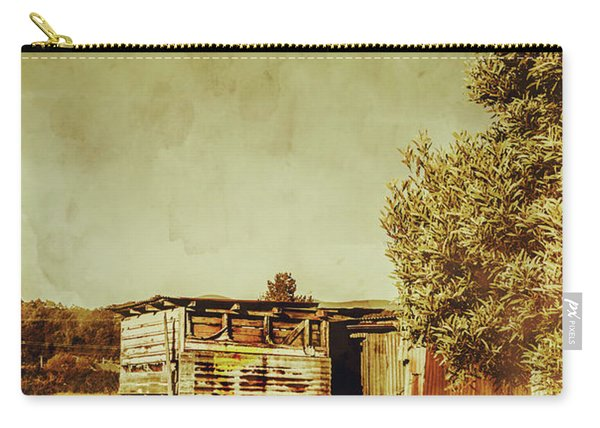 Aged Australia Countryside Scene Carry-all Pouch
