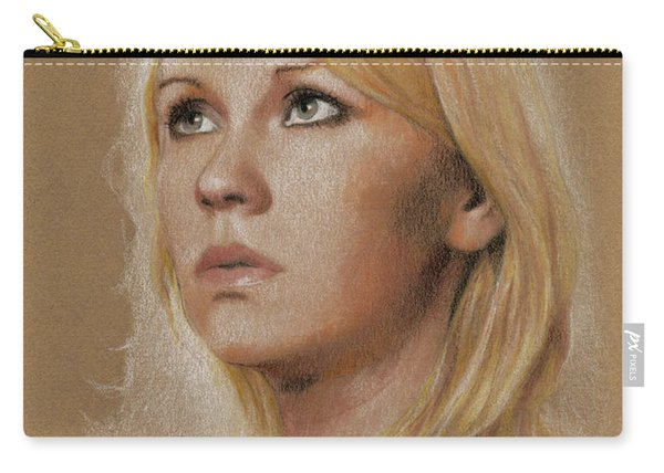 Carry-all Pouch featuring the photograph Agnetha by Jaroslaw Blaminsky