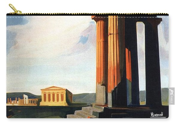 Agrigento, Sicily, Italy - Retro Travel Poster - Vintage Poster Carry-all Pouch