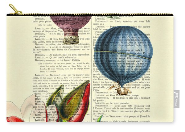 Hot Air Balloons Above Flower Field Carry-all Pouch
