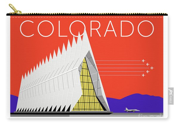 Carry-all Pouch featuring the digital art Air Force Academy Orange by Sam Brennan