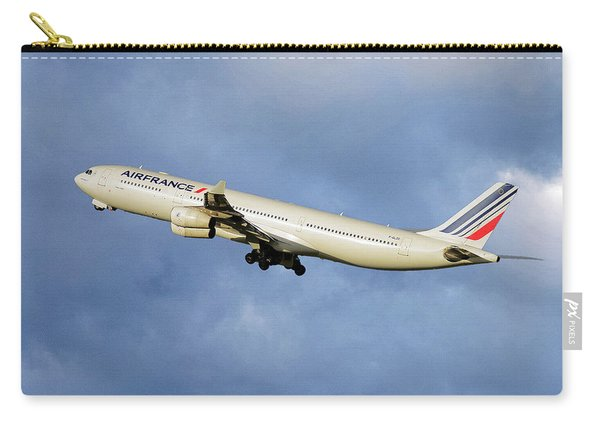 Air France Airbus A340-313 117 Carry-all Pouch