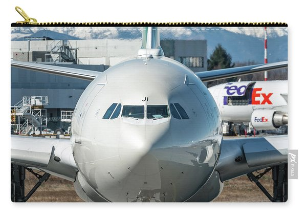 Airbus A330 Alitalia Nose Ei-eji Carry-all Pouch