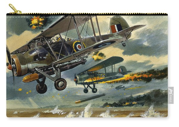 Aircraft Under Fire Carry-all Pouch