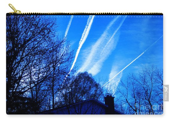 Airline Contrails Carry-all Pouch