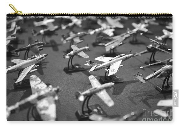 Airplane Collection - Black And White Carry-all Pouch
