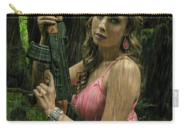 Ak47 In The Rain Carry-all Pouch