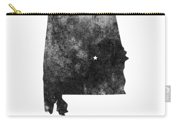 Alabama State Map Art - Grunge Silhouette Carry-all Pouch