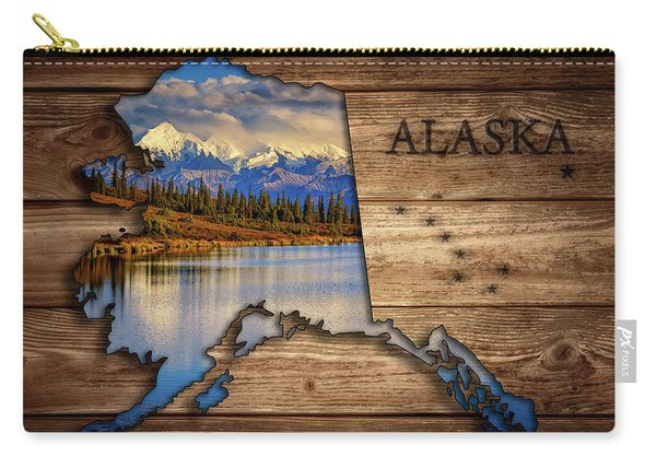 Alaska Map Collage Carry-all Pouch