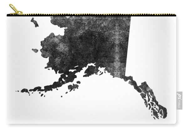 Alaska State Map Art - Grunge Silhouette Carry-all Pouch