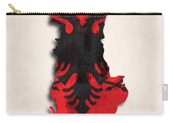 Albania Map Art With Flag Design Carry-all Pouch