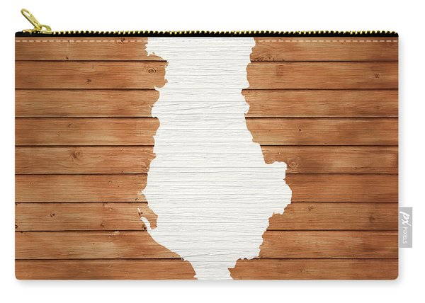 Albania Rustic Map On Wood Carry-all Pouch