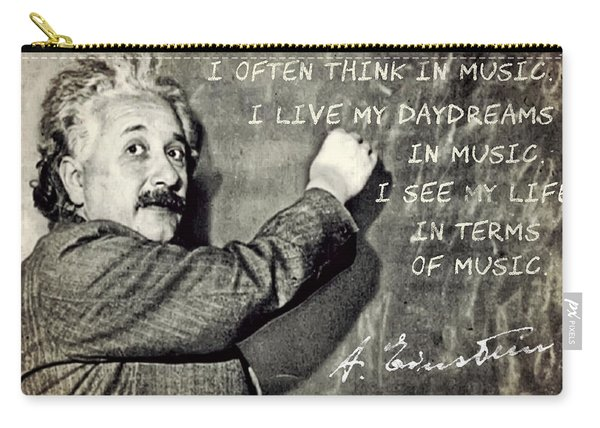 Albert Einstein, Physicist Who Loved Music Carry-all Pouch