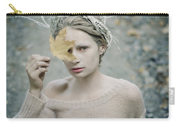 Albino In Forest. Prickle Tenderness Carry-all Pouch