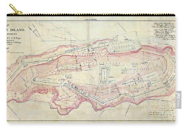 Alcatraz Island Map Circa 1867 Carry-all Pouch