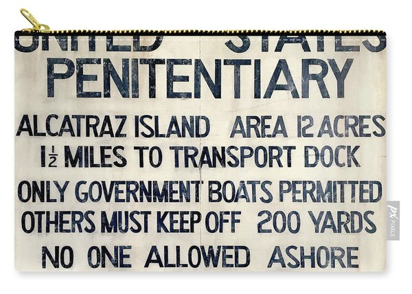 Alcatraz Welcome Sign Carry-all Pouch