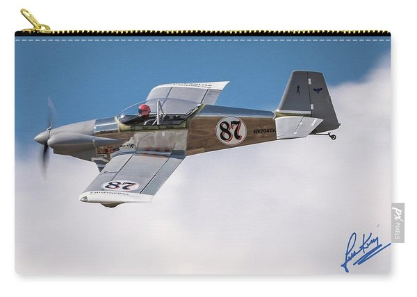 Carry-all Pouch featuring the photograph Alex Alverez Friday Morning At Reno Air Race Signature Edition 16x9 Aspect by John King