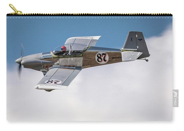 Carry-all Pouch featuring the photograph Alex Alverez Friday Morning At Reno Air Races 16x9 Aspect by John King