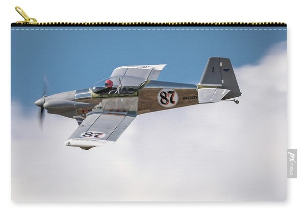 Carry-all Pouch featuring the photograph Alex Alverez Friday Morning At Reno Air Races 5x7 Aspect by John King
