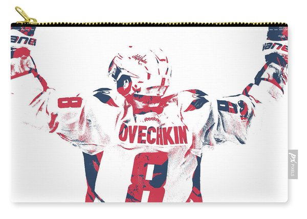 Alexander Ovechkin Washington Capitals Pixel Art 9 Carry-all Pouch