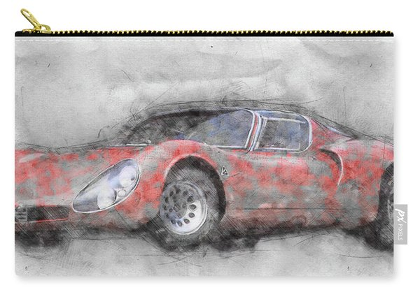 Alfa Romeo 33 Stradale 2 - 1967 - Automotive Art - Car Posters Carry-all Pouch