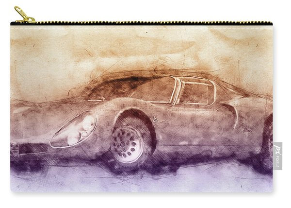 Alfa Romeo 33 Stradale 3 - 1967 - Automotive Art - Car Posters Carry-all Pouch