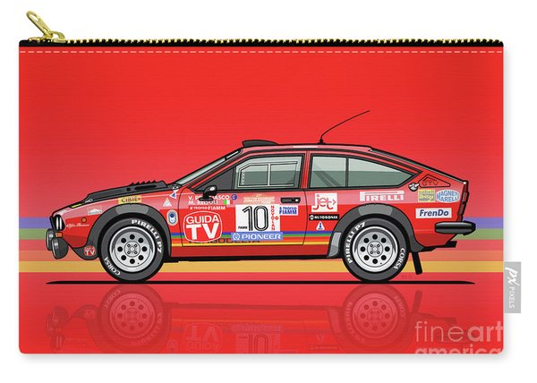 Alfetta Gtv Turbodelta Jolly Club Fia Group 4 1980 Sanremo Rallye Carry-all Pouch