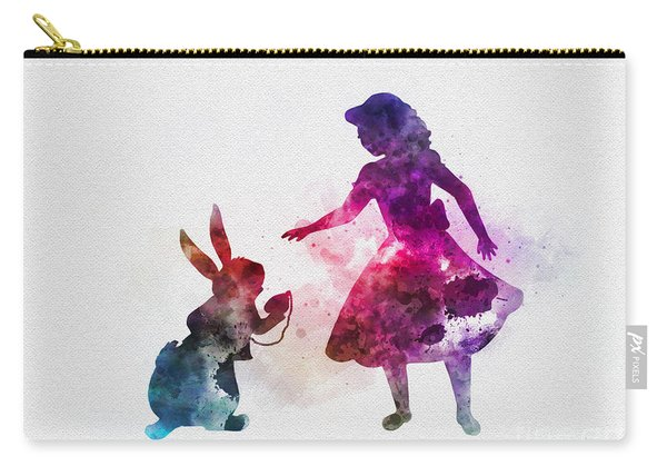 Alice And White Rabbit Carry-all Pouch