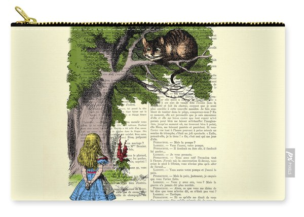 Alice In Wonderland And Cheshire Cat Carry-all Pouch