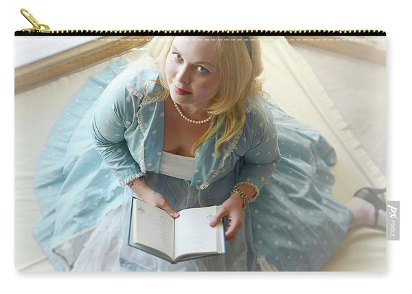 Alice In Wonderland Reads Her Story Carry-all Pouch