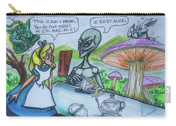 Alien In Wonderland Carry-all Pouch