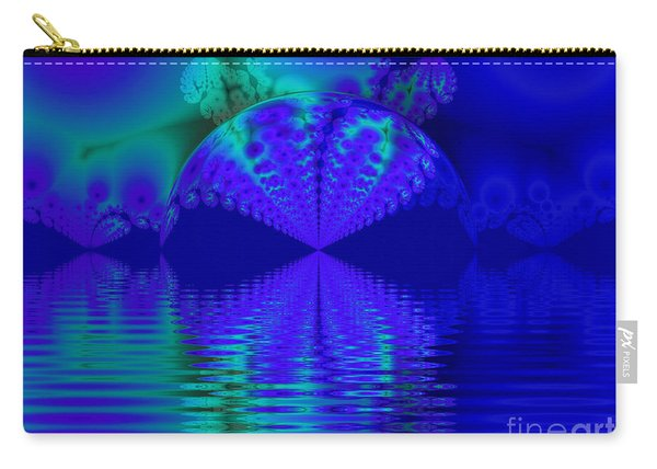 Alien Sunset Over Fantasy Lake Carry-all Pouch