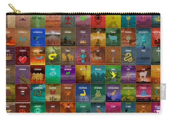 All 66 Books Of The Bible Old And New Testament Minimalist Graphic Design Carry-all Pouch