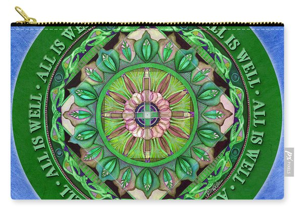 All Is Well Mandala Prayer Carry-all Pouch