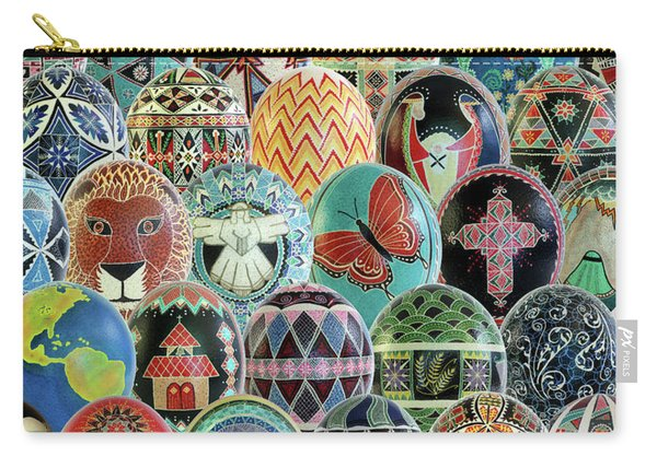 All Ostrich Eggs Collage Carry-all Pouch