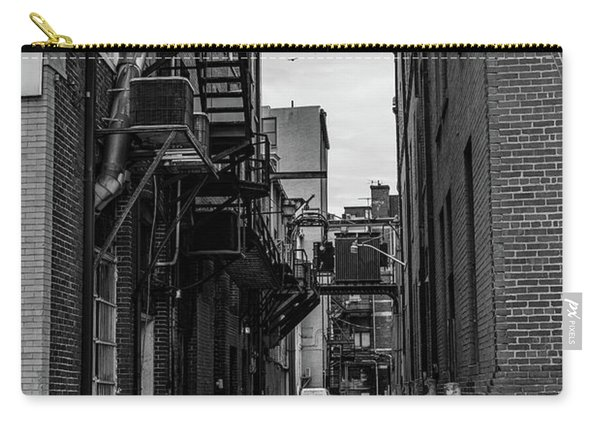 Carry-all Pouch featuring the photograph Alleyway II by Break The Silhouette