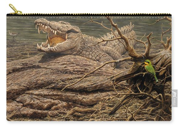 Carry-all Pouch featuring the painting Alligator by Alan M Hunt