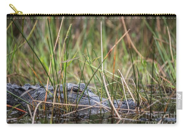 Alligator In Grass 0609 Carry-all Pouch