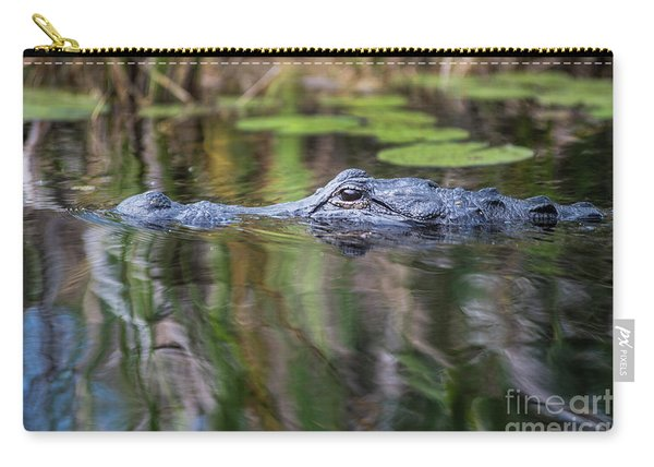 Alligator Swims-1-0599 Carry-all Pouch