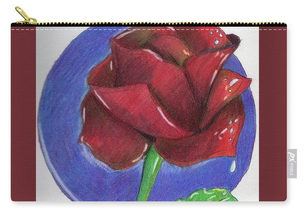 Almost Black Rose Carry-all Pouch