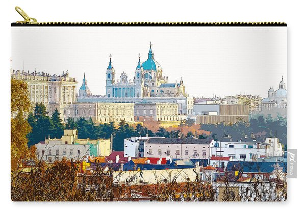 Almudena Cathedral And The Royal Palace Of Madrid Spain Carry-all Pouch