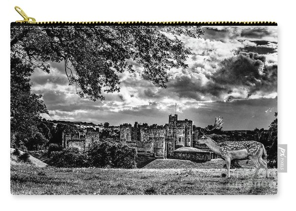 Alnwick Castle And Fallow Deer Carry-all Pouch