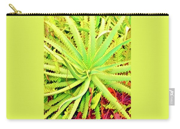 Aloha Aloe In Puna In Lime Carry-all Pouch