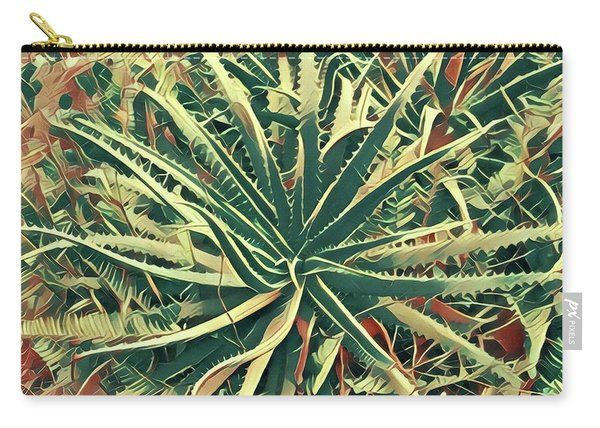Aloha Aloe In Puna Carry-all Pouch