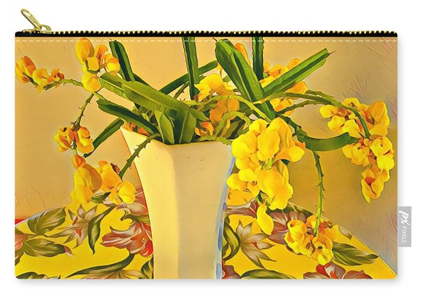 Aloha Bouquet Of The Day - Yellow Wild Flowers Carry-all Pouch