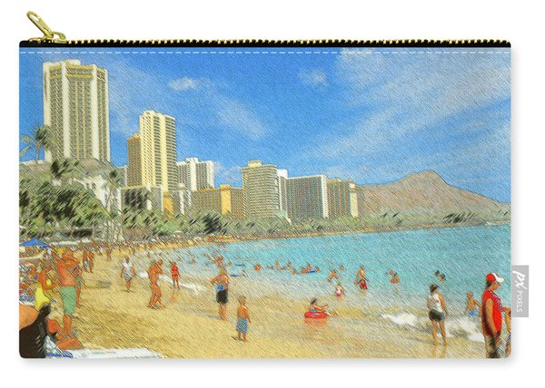 Aloha From Hawaii - Waikiki Beach Honolulu Carry-all Pouch