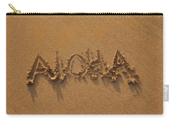 Aloha In The Sand Carry-all Pouch