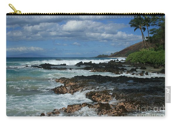 Aloha Island Dreams Paako Beach Makena Secret Cove Hawaii Carry-all Pouch