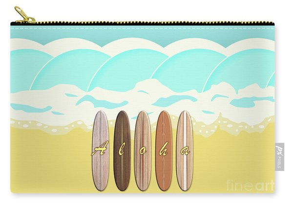Aloha Surf Wave Beach Carry-all Pouch